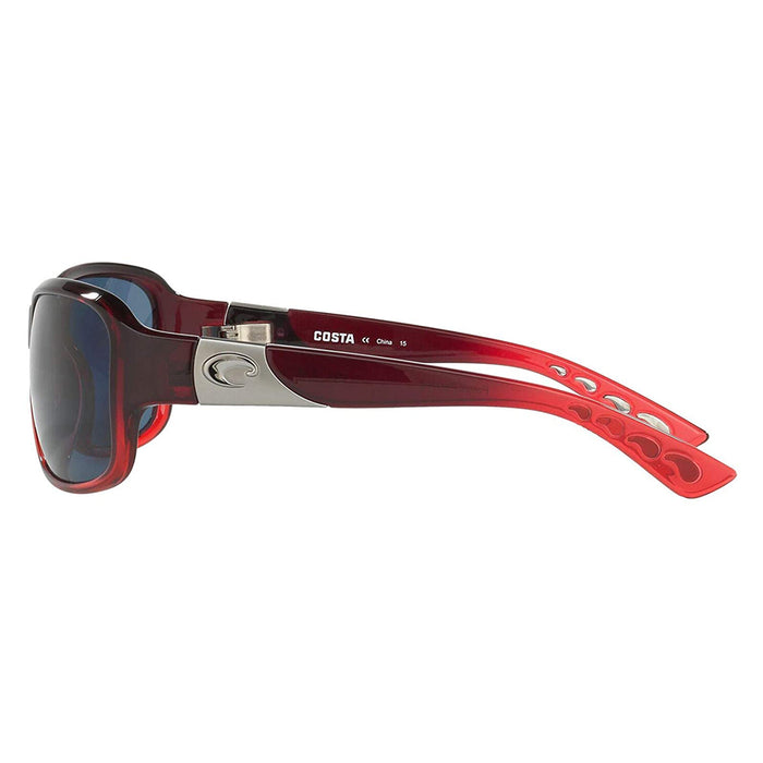 Costa Del Mar Womens Inlet Pomegranate Fade Frame Grey Polarized 580p Lens Sunglasses - IT48OGP