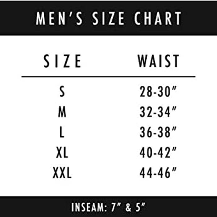 PSD Mens Stretch Elastic Wide Band Boxer Brief Bottom Warface Print Breathable Underwear - 121180010-BLK-XL