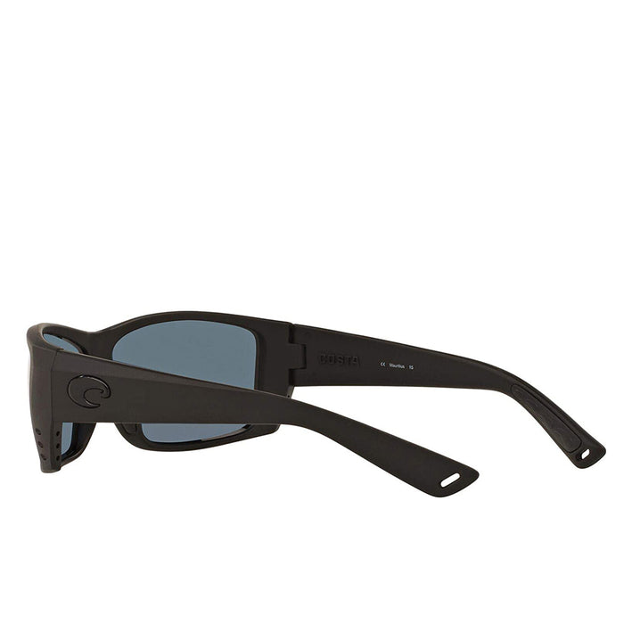 Costa Del Mar Mens Cat Cay Blackout Frame Grey Polarized 580p Lens Sunglasses - AT01OGP