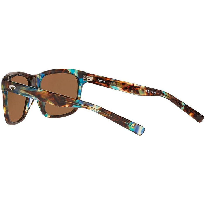 Costa Del Mar Mens Aransas Shiny Ocean Tortoise Frame Copper Polarized Lens Sunglasses - ARA204OCGLP - WatchCo.com