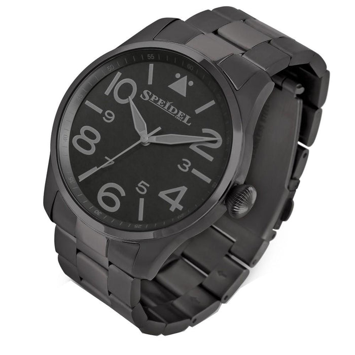 Speidel Mens Black Stainless Steel Band Luminous Hands Quartz Dial Watch - 603392304 - WatchCo.com