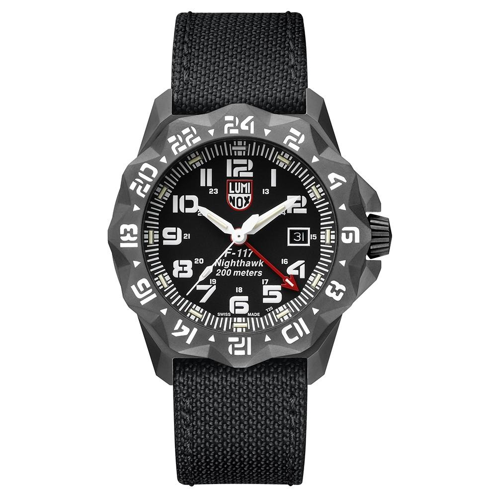 Luminox Men's F-117 Nighthawk 6420 Series Black Kevlar Strap Black Analog Dial Quartz Watch - XA.6421