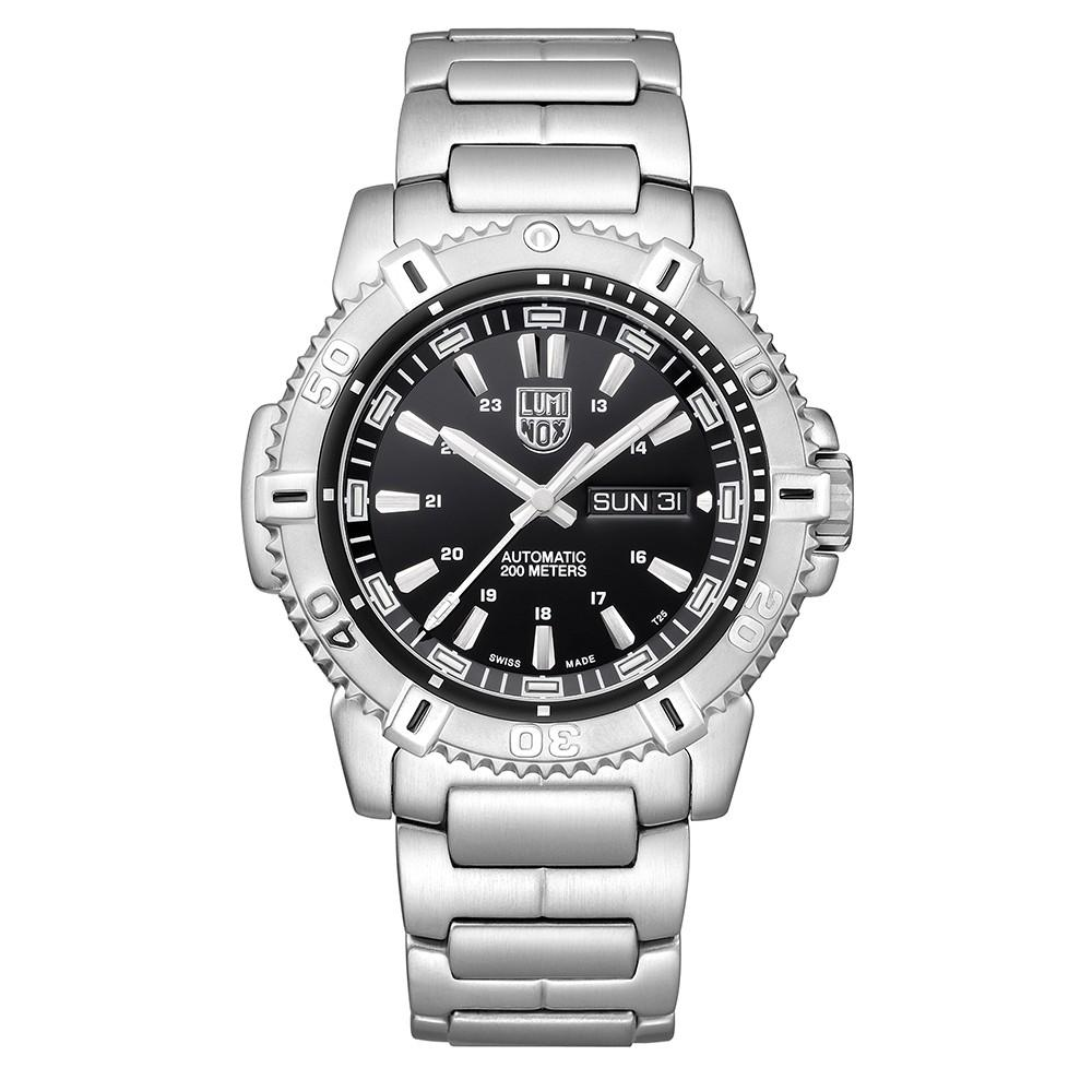 Luminox Men's Modern Mariner Automatic 6500 Series Stainless Steel Bracelet Black Analog Dial Watch - XS.6502.NV
