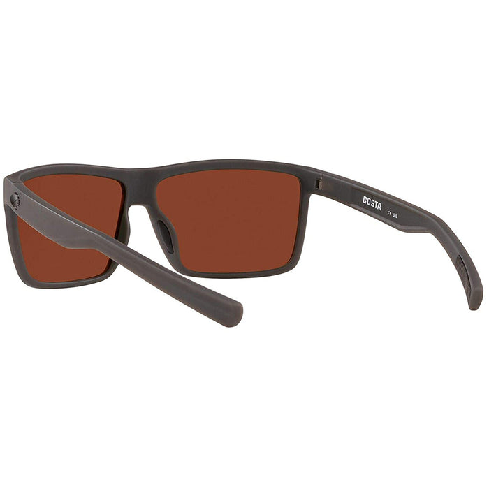 Costa Del Mar Mens Rinconcito Matte Grey Frame Green Mirror Polarized-580g Lens Sunglasses - RIC98OGMLP