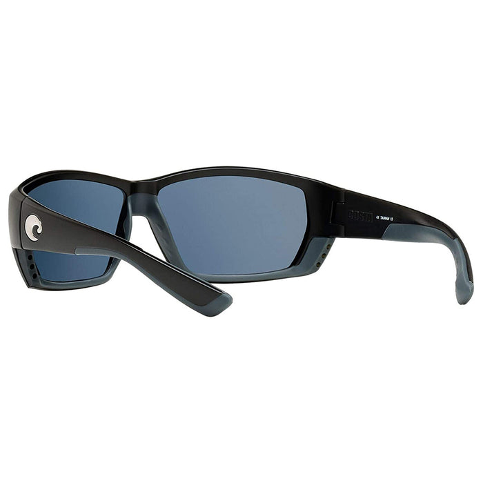 Costa Del Mar Mens Tuna Alley Matte Black Frame Polarized Grey-580p Sunglasses - TA11OGP