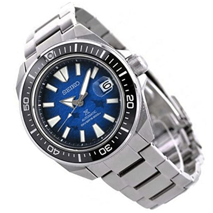 Seiko Mens Prospex Blue Dial Silver-Tone Band Stainless Steel Watch - SRPE33