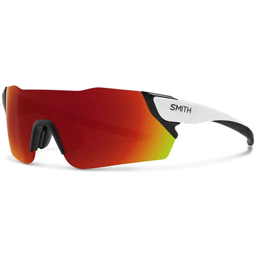Smith Mens Attack MAG Matte White Frame Red Mirror Polarized Lens Sunglasses - ATCMDMMW - WatchCo.com