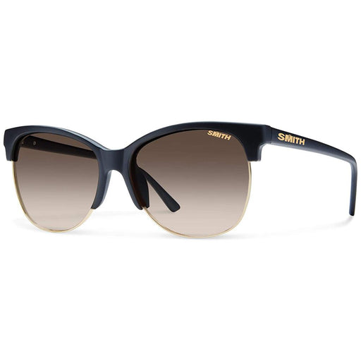 Smith Womens Rebel Matte Black Frame Brown Gradient Polarized Lens Sunglasses - BLPPBRGMB - WatchCo.com
