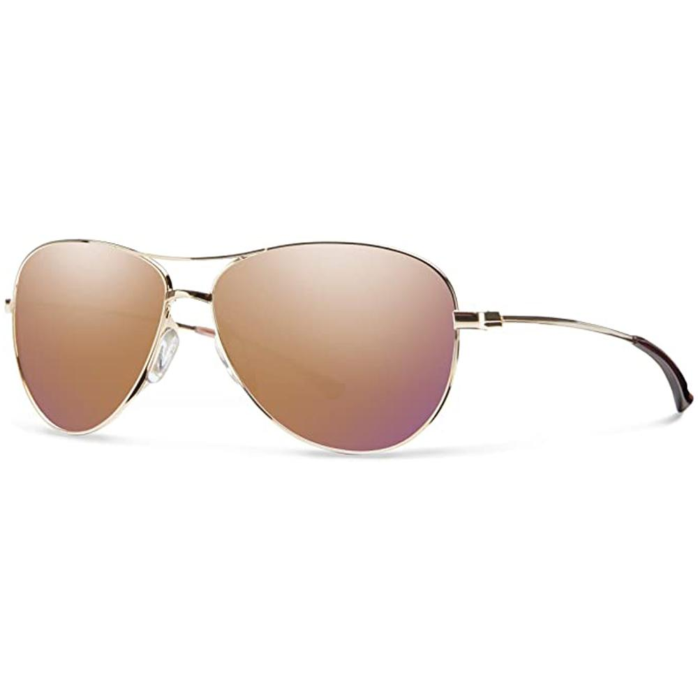 Smith Womens Langley Gold Frame Rose Gold Mirror Polarized Lens Sunglasses - LAPCRGMGD