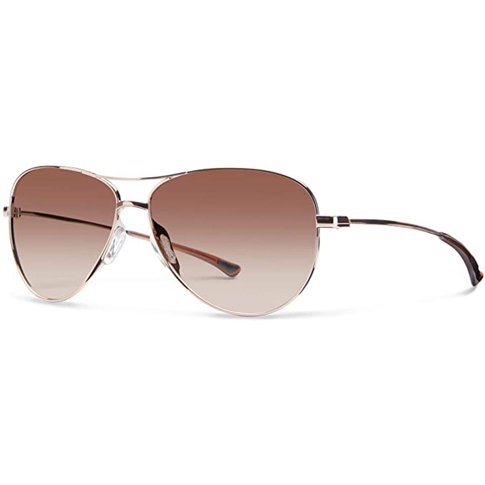 Smith Womens Langley Rose Gold Frame Sienna Gradient Polarized Lens Sunglasses - LAPCSNGRGD