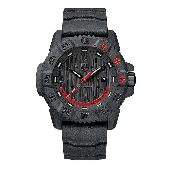 Luminox Navy Seals Mens Master Carbon Limited Edition Black Silicone Band Black Analog Dial Quartz Watch - XS.3801.EY - WatchCo.com