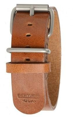 Bertucci Mens Tan D-Type Heritage Scotch Veg. Calf Leather 22mm Watch Band - B-188H - WatchCo.com