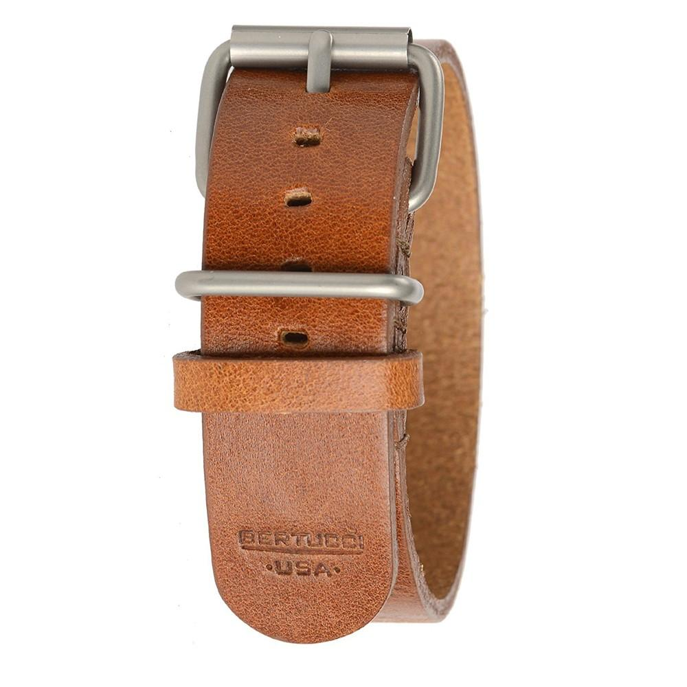 Bertucci Mens Tan D-Type Heritage Scotch Veg. Calf Leather 22mm Watch Band - B-188H