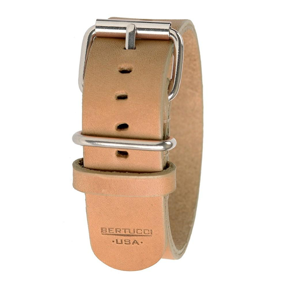 Bertucci Mens Tan D-Type Heritage Sahara Sand Veg. Leather Watch Band - B-189H