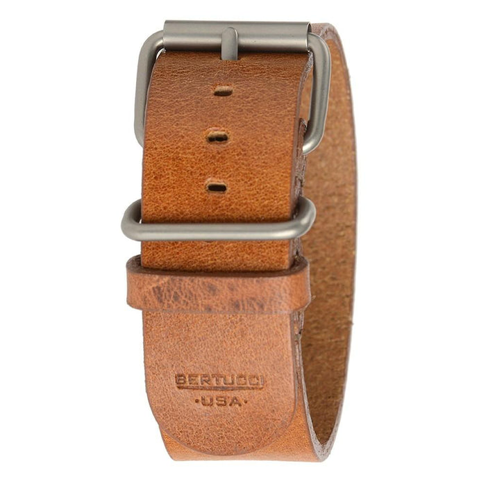 Bertucci Mens Tan D-Type Heritage Scotch Veg. Leather Watch Band - B-190H - WatchCo.com