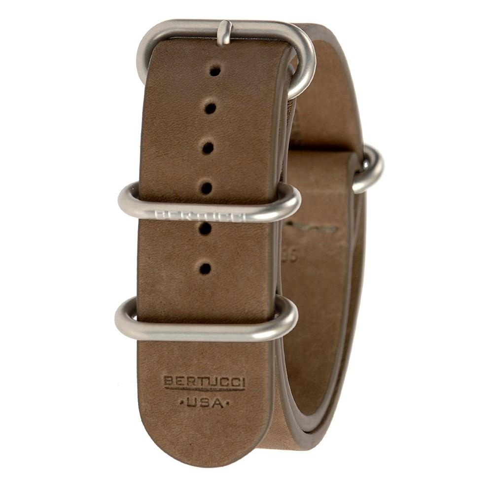 Bertucci Mens E-Type G-10 Brown Exploration Teak Calf Leather Watch Band - B-195NL