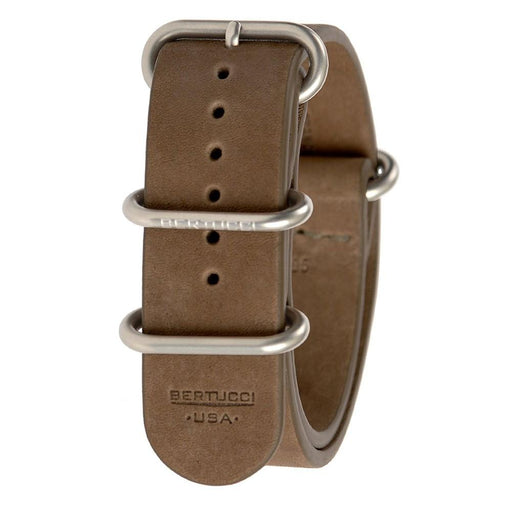 Bertucci Mens E-Type G-10 Brown Exploration Teak Calf Leather Watch Band - B-195NL - WatchCo.com
