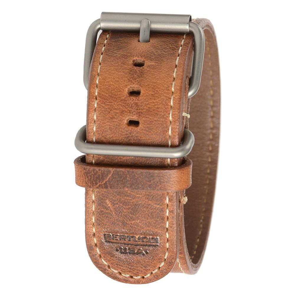 Bertucci Mens Tan D-Type Heritage Horween American Leather Watch Band - B-198H
