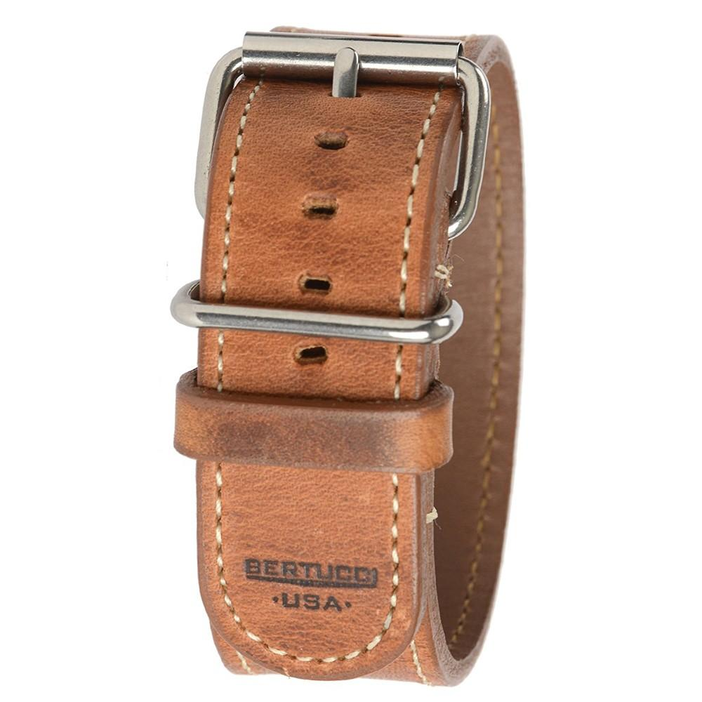 Bertucci Mens Tan D-Type Heritage Horween American Tan Leather Watch Band - B-201H