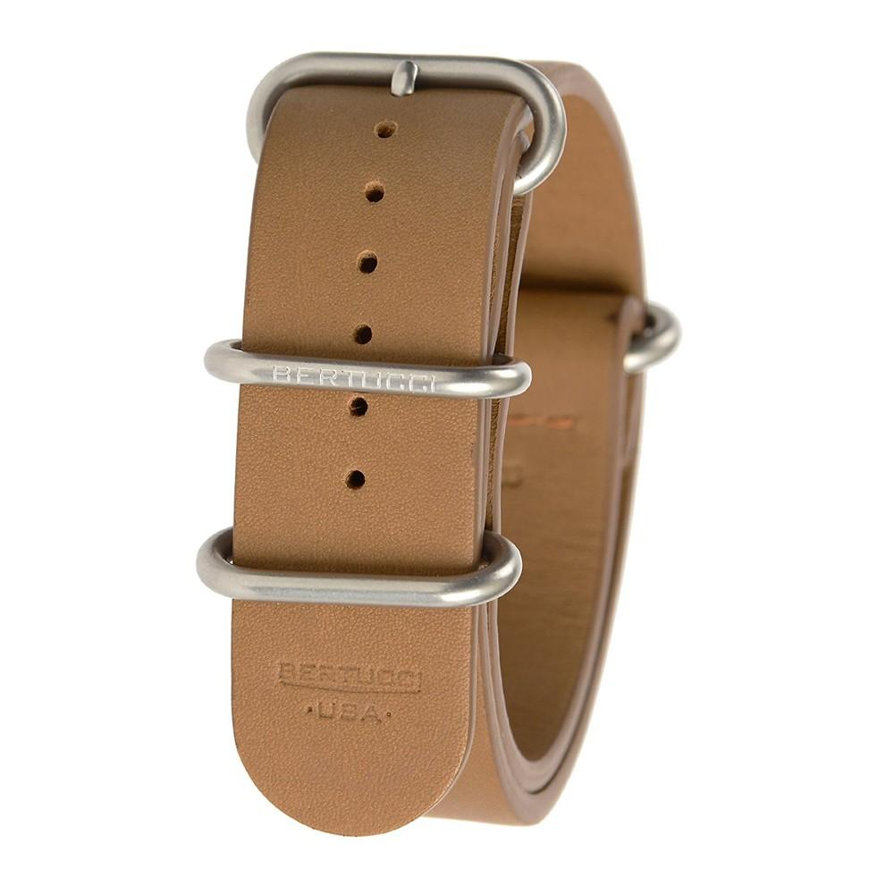 Bertucci Mens E-Type G-10 Tan Calf Leather 22mm British Watch Band - B-203NL