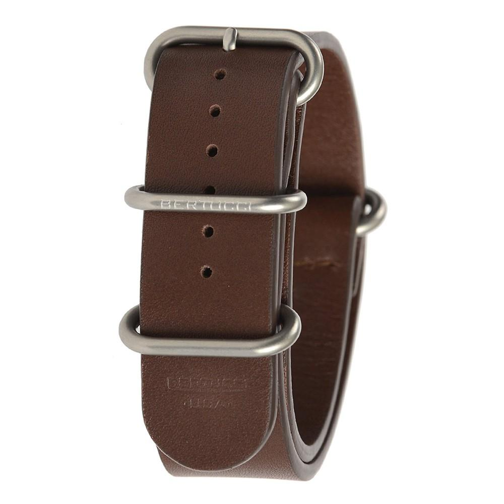 Bertucci Mens E-Type G-10 Brown Ox Blood Calf Leather 22mm Watch Band - B-204NL