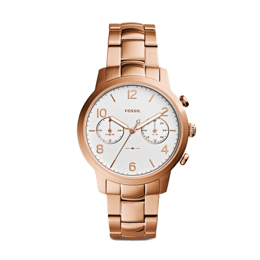 Fossil Caiden Womens Rose Gold-Tone Band Rose Gold Case Quartz Multifunction Watch - ES4237