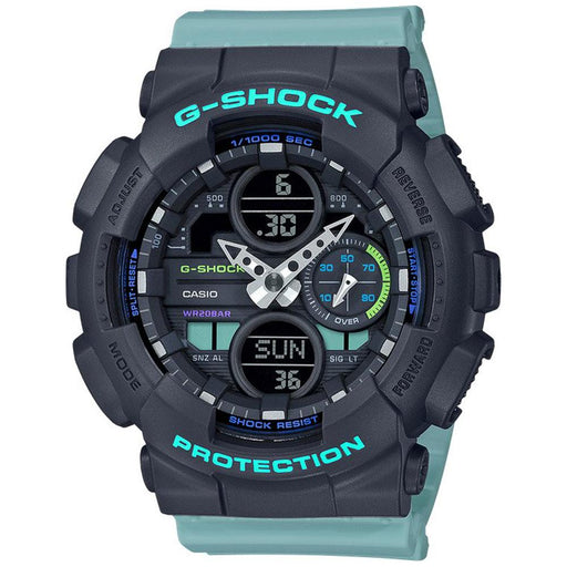 Casio Womens G-Shock BLue Resin Strap Black Analog-Digital Dial Quartz Watch - GMAS140-2A - WatchCo.com