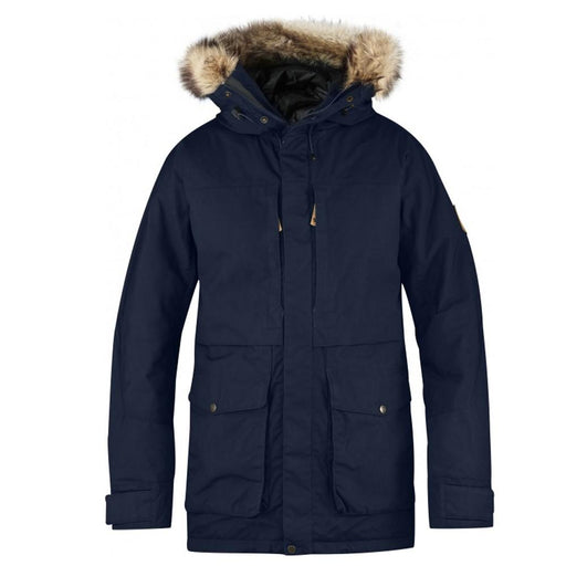 Fjallraven Mens Dark Navy Barents Parka Jacket - F81335-555-XL - WatchCo.com