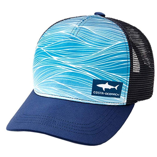 Costa Del Mar Unisex Ocearch Shark Wave Trucker One Size Hat - HA-112N - WatchCo.com