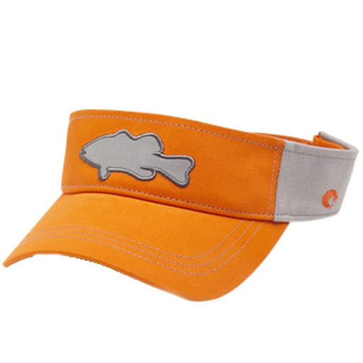 Costa Del Mar Unisex Orange Bass Color Block Reflective Visor One Size Hat - HA-75OR - WatchCo.com