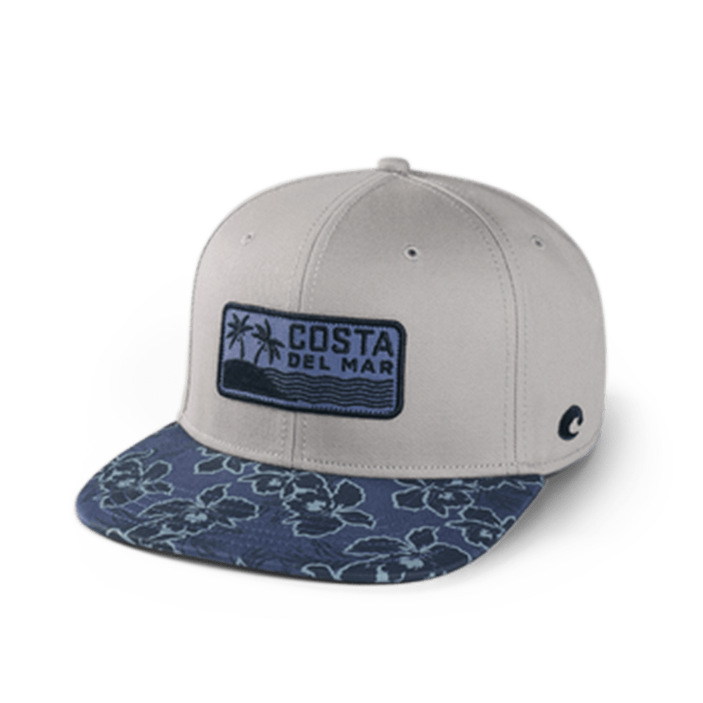 Costa Del Mar Gray One Size Kailua Flat Brim Snapback Hat - HA-132G