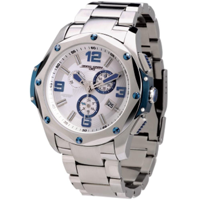 Jorg Gray Mens Stainless Steel Band Silver-Tone Textured Swiss ISA Dial Watch - JG9100-15 - WatchCo.com