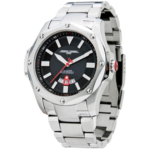 Jorg Gray Mens Silver Stainless Steel Band Black Swiss RONDA Dial Watch - JG9100-21 - WatchCo.com