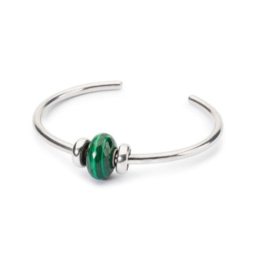 Trollbeads 925 Green Malachite Stone Bead Bangle Sterling Silver Bracelet - TAGBO-00128 - WatchCo.com