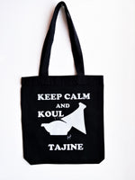 "Tote bag ""Keep calm and koul tajine"" - Ghazel"
