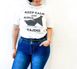 "T-shirt manches courtes ""Keep calm and koul tajine"" - Ghazel Boutique"