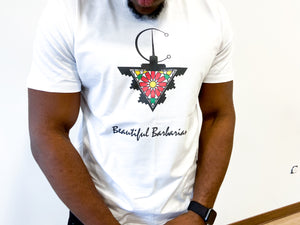 "T-shirt manches courtes ""Beautiful Barbarian"" amazigh - Ghazel Boutique"