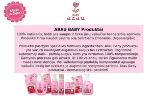 ARAU Baby Toy Dish DishWashing Detergent Without Synthetic Additives, 300 ml - Beža Familia