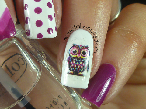 Totally Nailed Owl Decal
