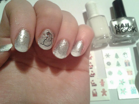 Xmas Nail Decals Snowman (Photo by The Pink PrincessZ)