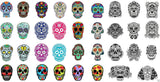 Sugar Skull Nail Art Decals Set #3
