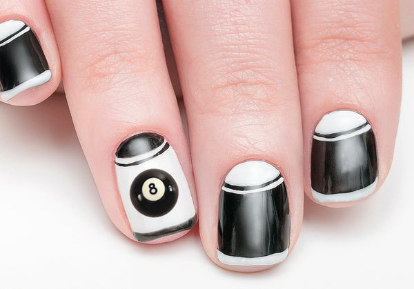 8 Ball Nail Art Decals