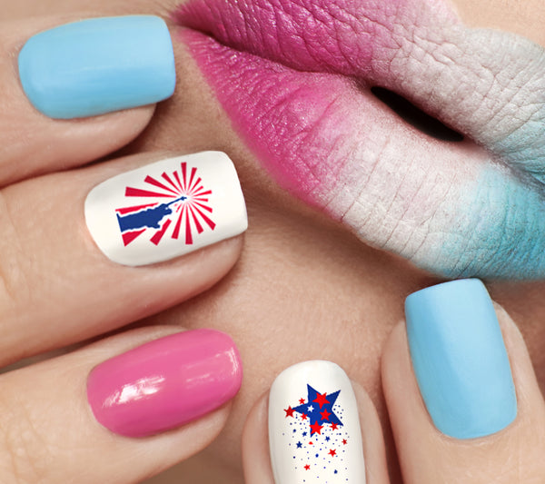 I Love America Nail Art Decals Set #2