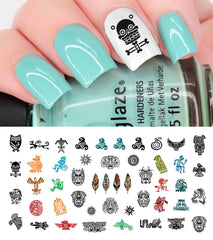 Hippie Nail Decals