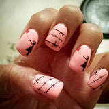 Girl With Heart Balloon Nail Decals