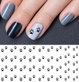 Bear Paw Nail Art Decals