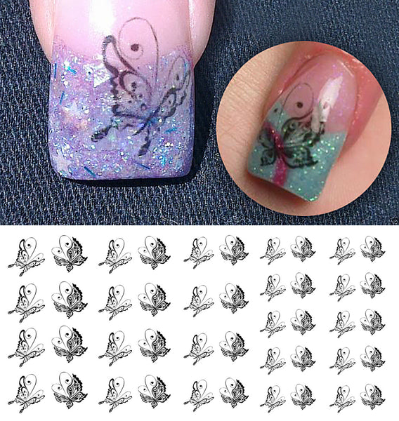 Butterfly Nail Art Decals