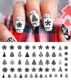 Black Christmas Nail Art Decals Set #2
