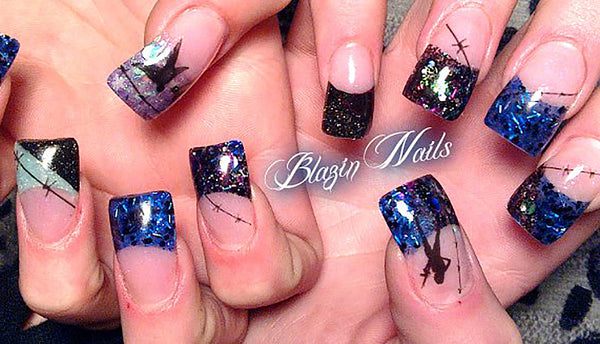 Barbed Wire Nail Art Decals