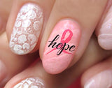 Breast Cancer Awareness Nail Art Decals Set #4